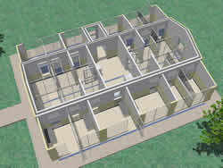 Kennel Design Roof cut-away